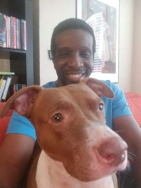 TV Streaming News - Leon Thomas with his dog Tiny