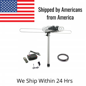 TV Streaming News HDTV Amplified Digital Outdoor Antenna with 150 Mile Range and 360° Degree Rotation